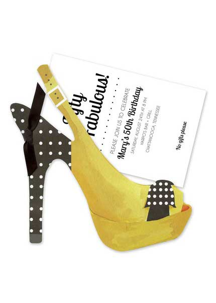 30th Birthday Party Invitation high heels