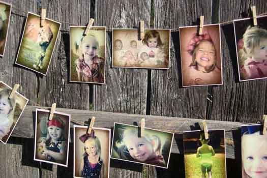 photo garland decorations
