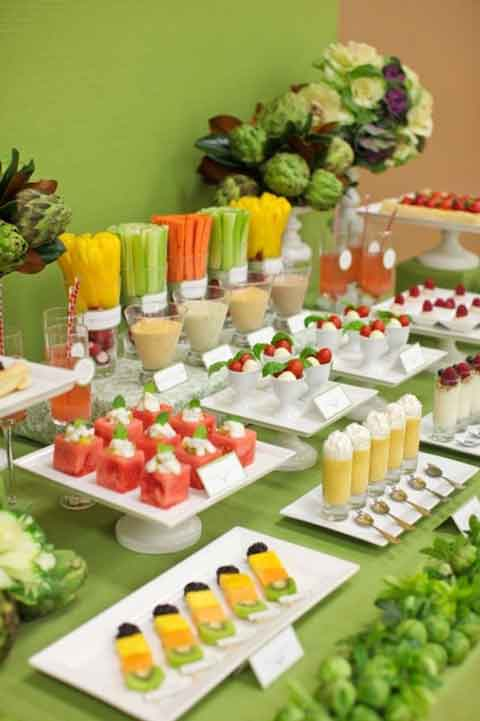 buffet table styling & presentation