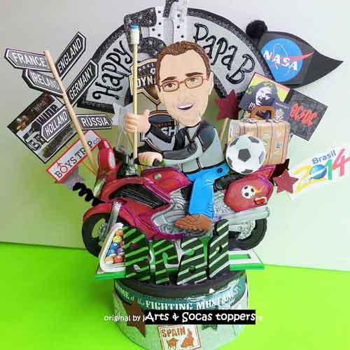 40th birthday cartoon figure cake topper