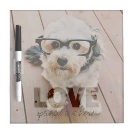 personalized photo white board