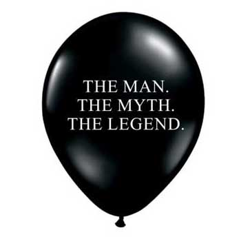The Man, The Myth, The Legend balloons