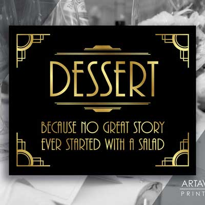 dessert - because no great story every started with salad
