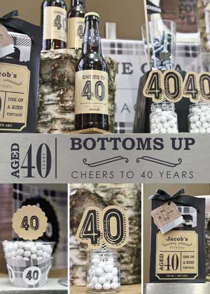 Aged to Perfection 40th birthday party supplies