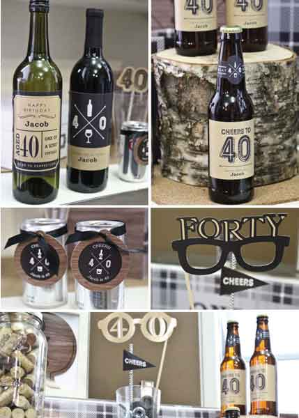 Aged to Perfection 40th birthday party decorations
