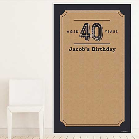 Aged to Perfection 40th birthday backdrop