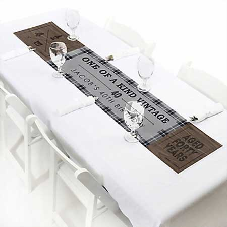 Aged to Perfection 40th birthday table runner