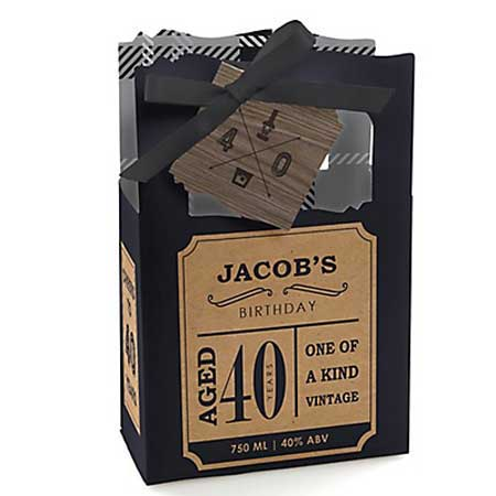 Aged to Perfection 40th birthday favor bags