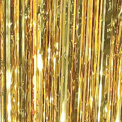 metallic gold foil curtain