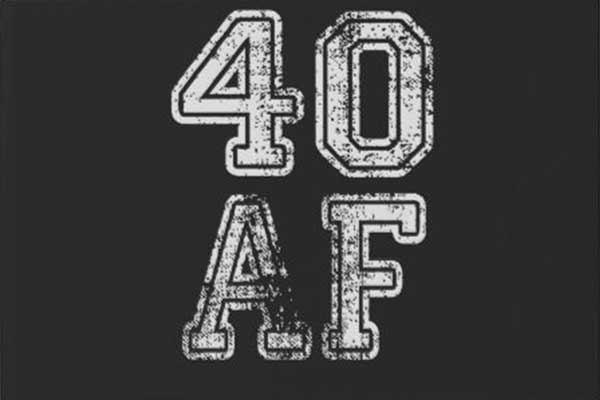 40 AF party theme