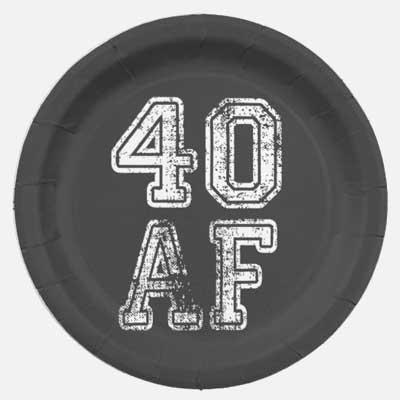 40 AF party plates