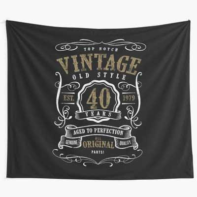 Jack Daniels style vintage wall tapestry