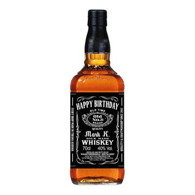 personalized Jack Daniels whiskey bottle labels