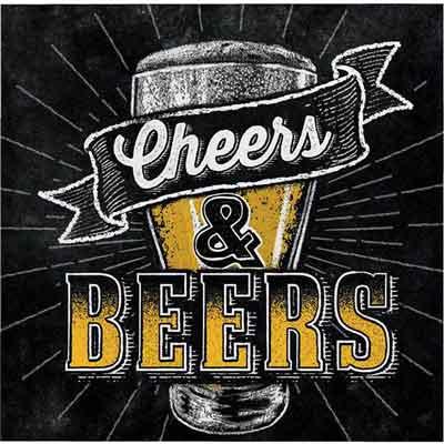 Cheers and Beers beverage napkins