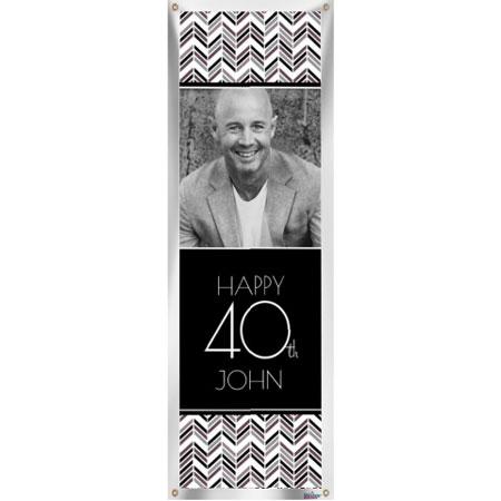 Best Day Ever 40th birthday custom banner