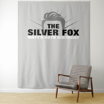 The Silver Fox backdrop tapestry