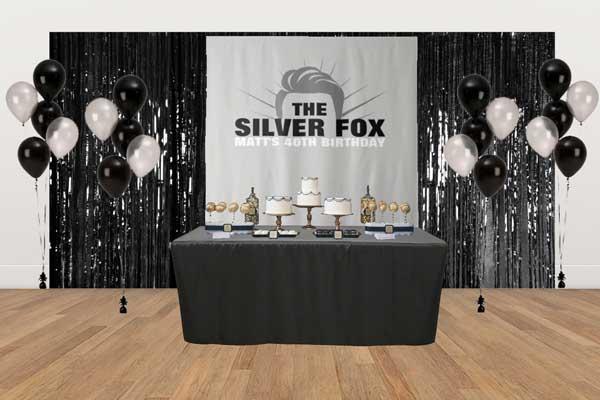 The Silver Fox dessert table