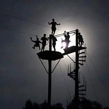 moonlit ziplining