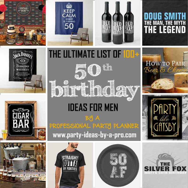 50th birthday ideas for men collage