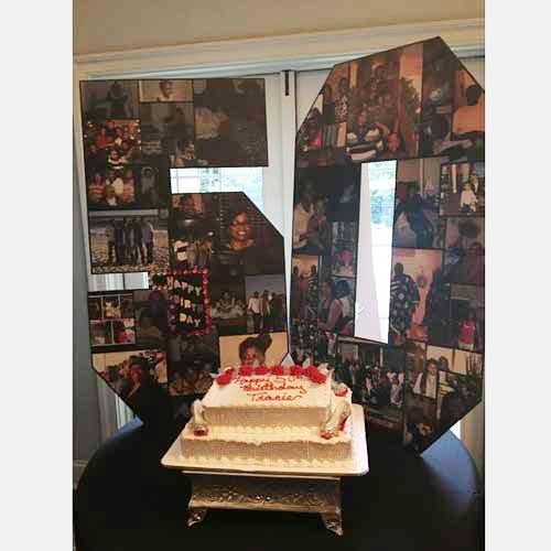 50th birthday photo collage 3d wooden letters