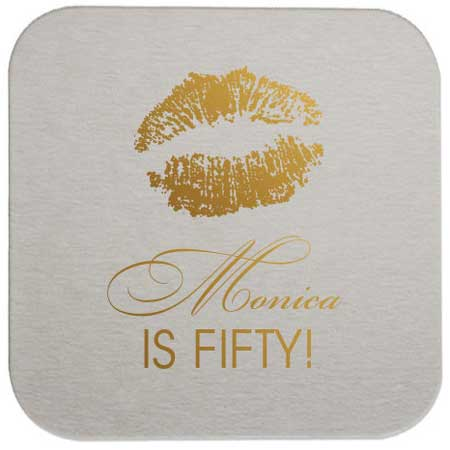personalized drinks coasters 50th birthday