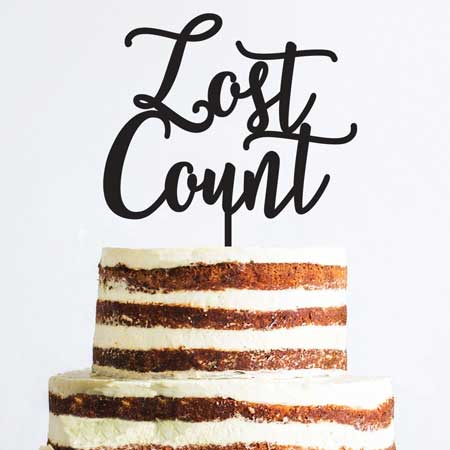 lost count birthday cake topper