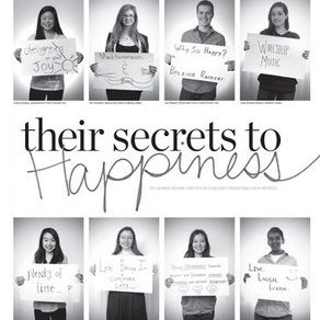 secret to happiness photo collage