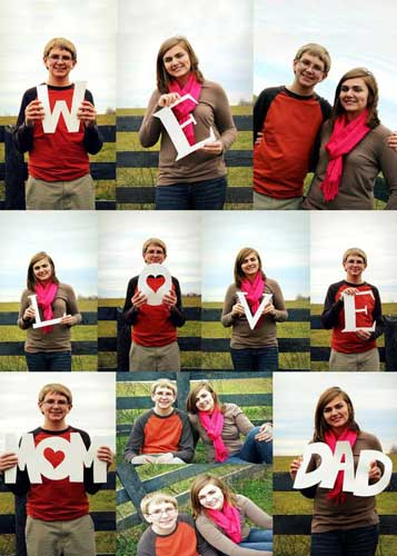 we love you mom & dad photo collage
