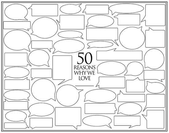 50 Reasons why we love you template