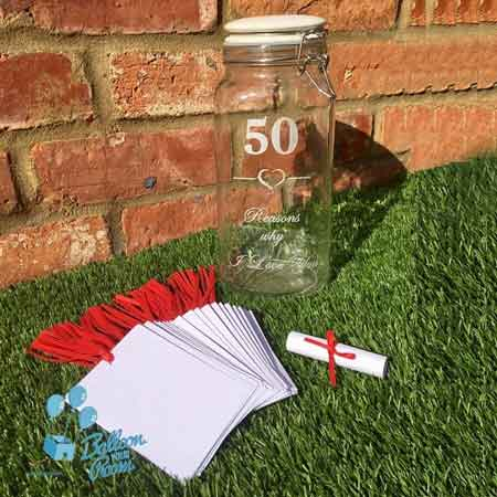 50 reasons we love you jar of messages