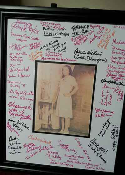 guest book alternative signed photo frame