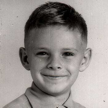 vintage photo young kid