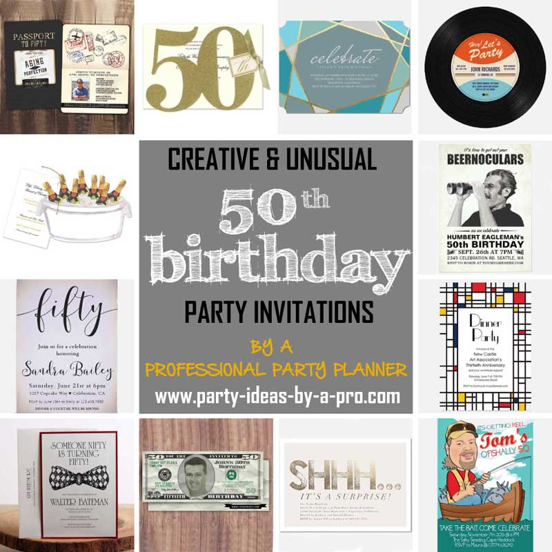 The Best 50th Birthday Invitations—by a Professional Party Planner
