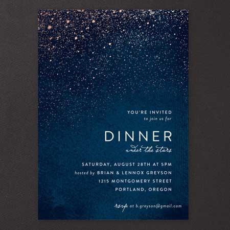 starry night invitation