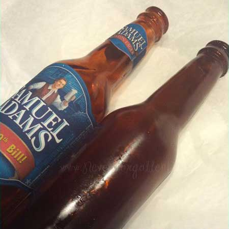 Samuel Adams edible beer bottle cake topper