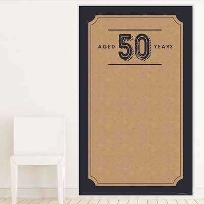 Aged to Perfection 50th birthday backdrop