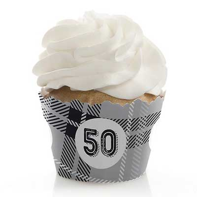Aged to Perfection 50th birthday cupcake toppers