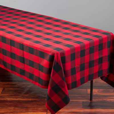 lumberjack plaid tablecloth