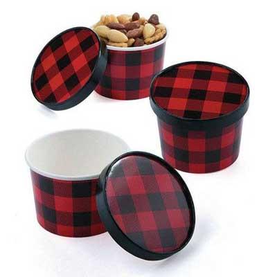lumberjack plaid food containers