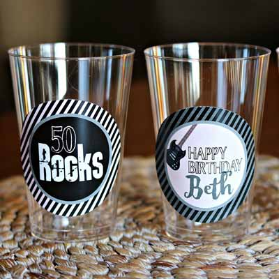 50 Rocks party cups