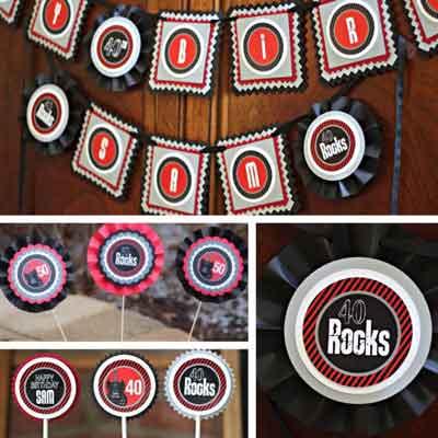 50 Rocks birthday party supplies