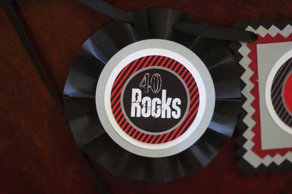 50 Rocks birthday banner