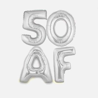 50 AF balloons