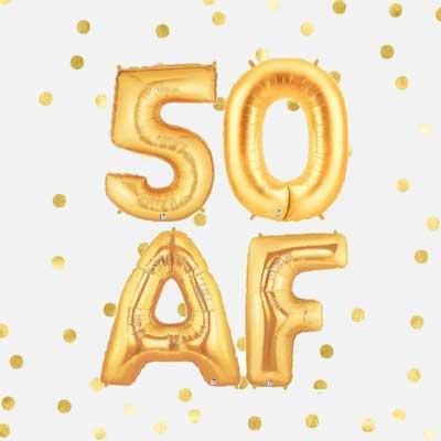 50 AF ballons