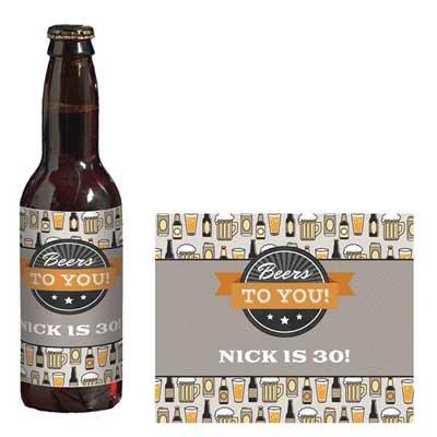 Beers to You custom beer labels