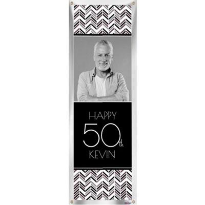 Best Day Ever 50th birthday custom banner