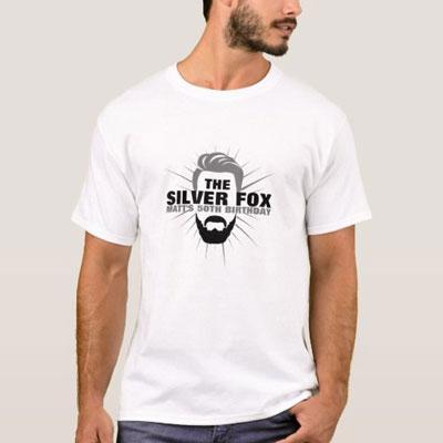 The Silver Fox with beard T shirt