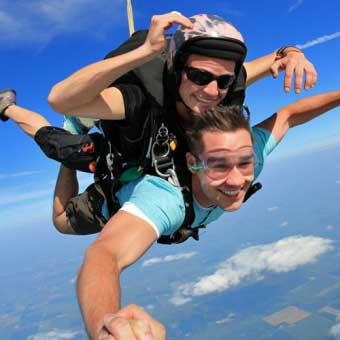 Accelerated Free Fall Sky Diving