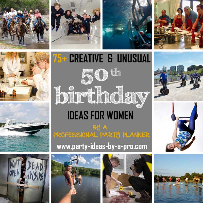 50th birthday ideas for women