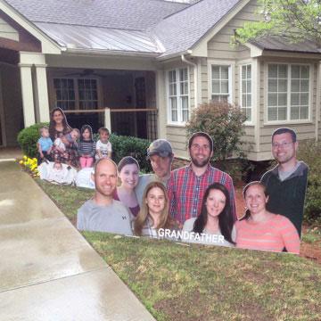 milestone birthday photo yard signs